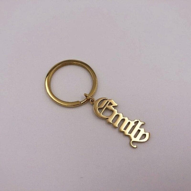 Personalized Keychain with Custom Name Pendant - CoupleGifts.com
