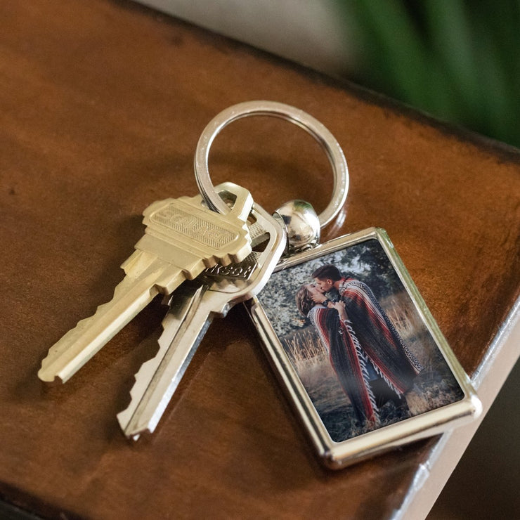 Personalized Keychain with Custom Photo - CoupleGifts.com