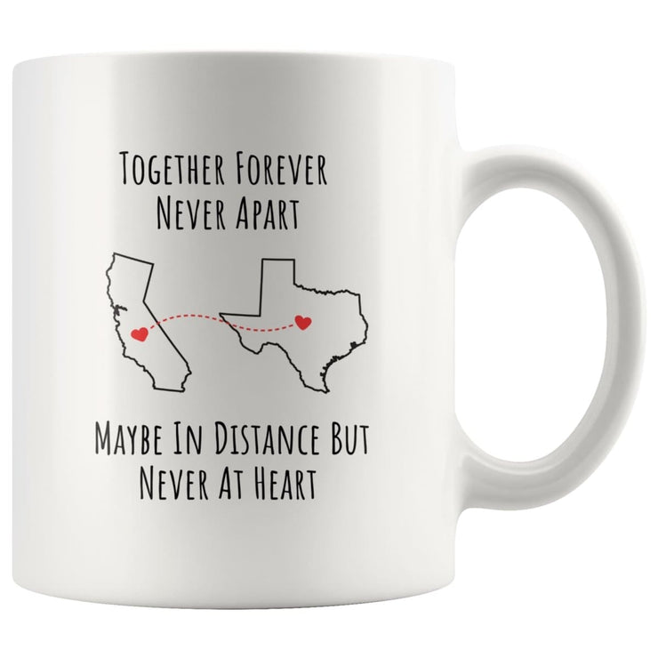Personalized Long-Distance Relationship Mug with Custom States or Countries - CoupleGifts.com