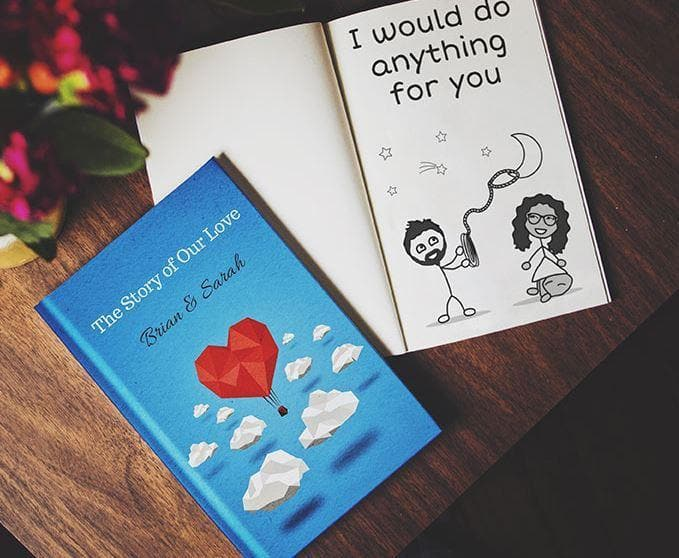 Personalized Love Book - Reasons Why I Love You - CoupleGifts.com