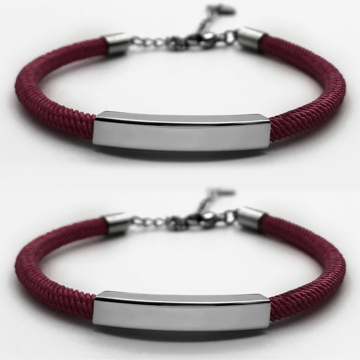Personalized Magnetic Couple Bracelets - CoupleGifts.com