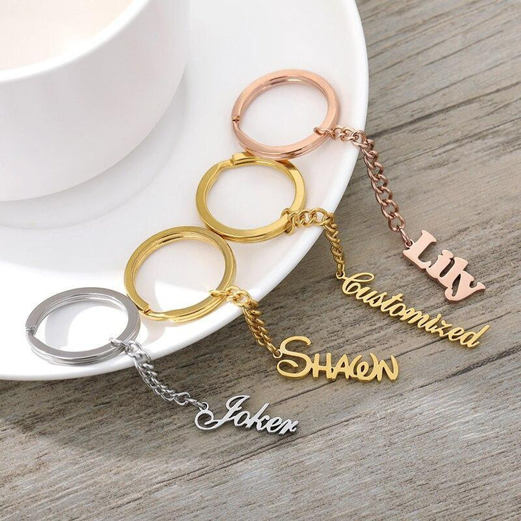 Personalized Name Keychains - CoupleGifts.com