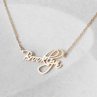 Personalized Necklaces with Custom Name - Necklace - Gold Color