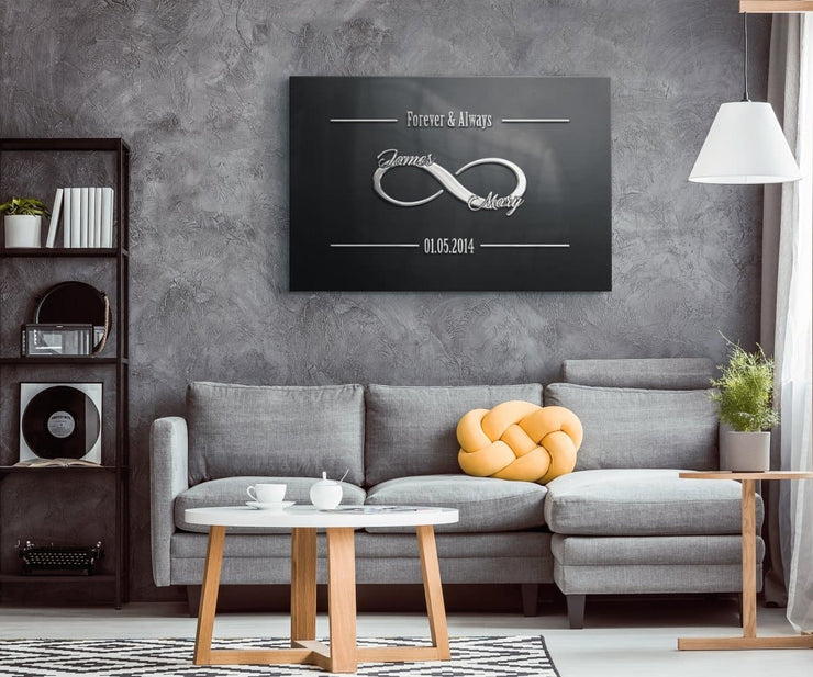 Personalized Noble Infinity Love Canvas - CoupleGifts.com