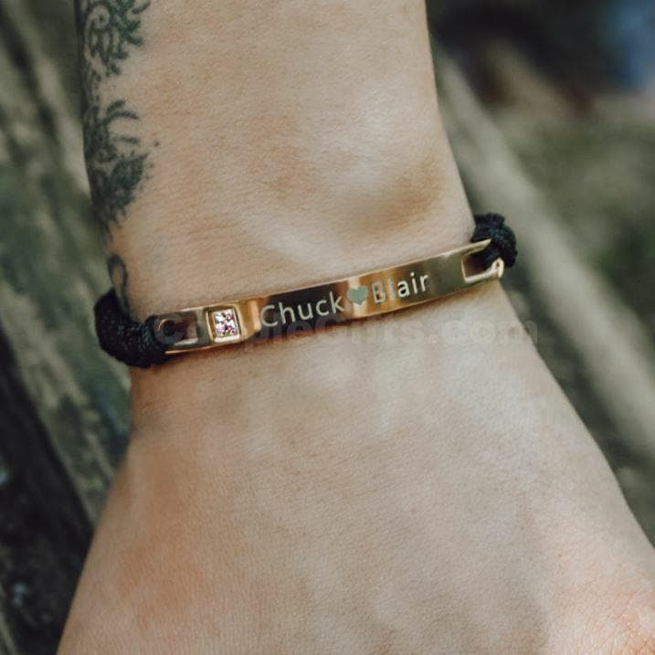 Personalized Rope Bracelets with Custom Engraving - All Versions - CoupleGifts.com