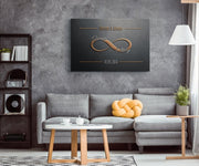 Personalized Woven Look Infinity Love Canvas - CoupleGifts.com