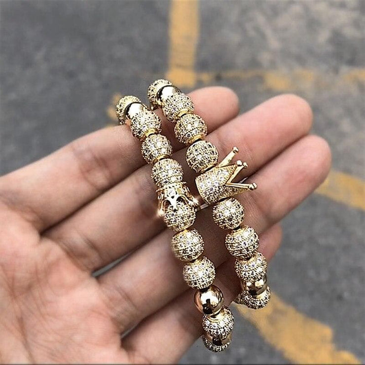 Premium Luxury Crown Bracelets - CoupleGifts.com