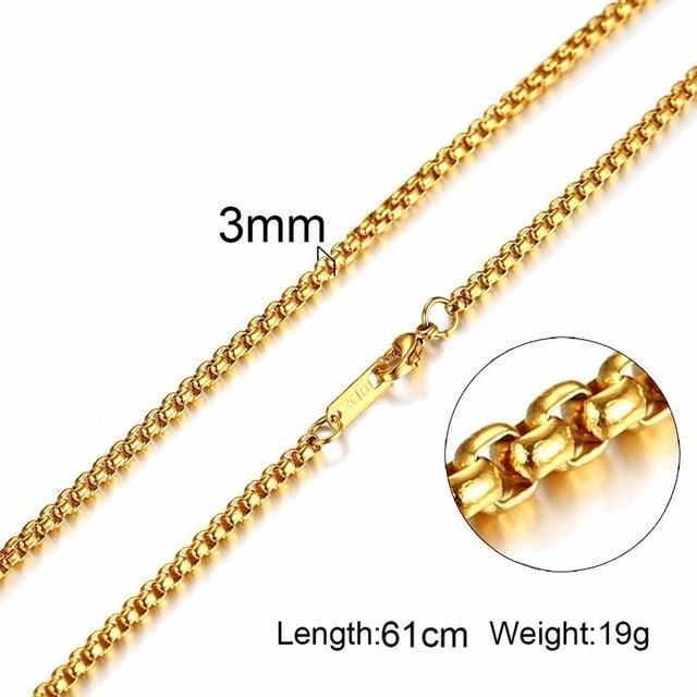 Stainless Steel Chains for Men 24inch (61cm)