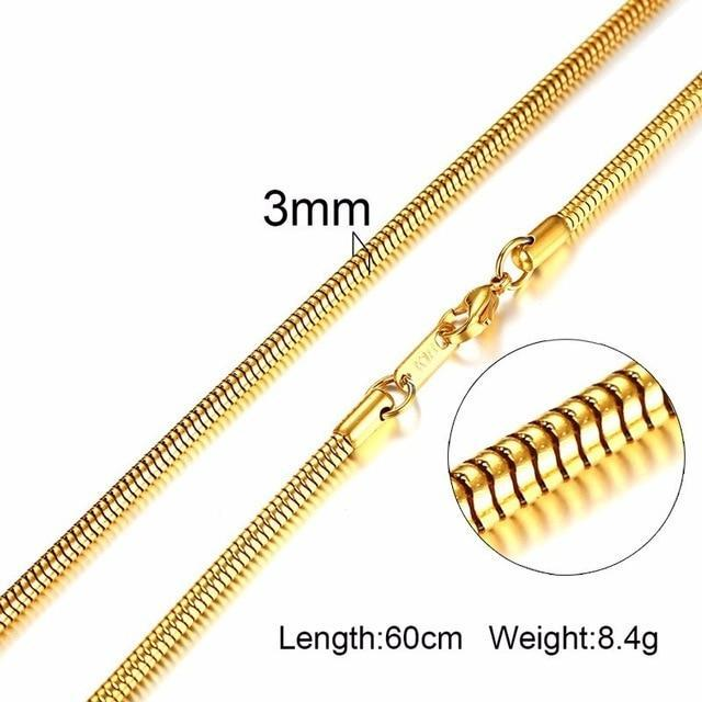 Stainless Steel Chains for Men 24inch (61cm) - CoupleGifts.com