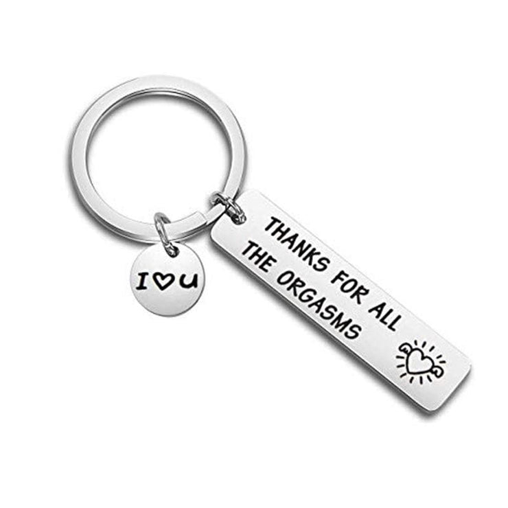 Thanks For All the Orgasms - Love Keychain - CoupleGifts.com