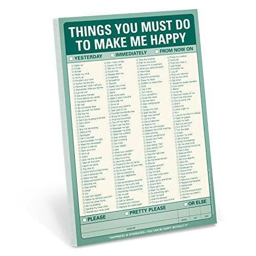 Things To Do to Make Me Happy - Pad - CoupleGifts.com