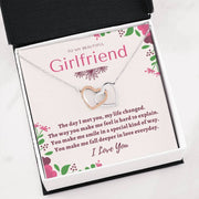 To My Girlfriend - Interlocking Hearts - CoupleGifts.com