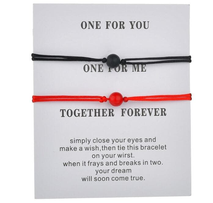 Together Forever - Matching Relationship Wish Bracelets - CoupleGifts.com