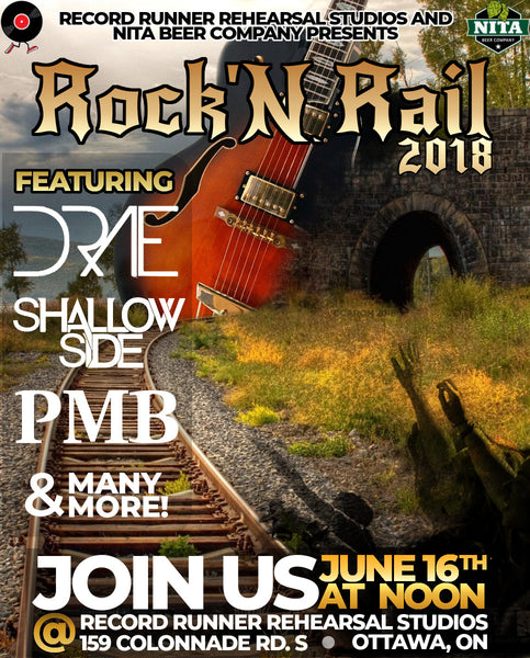 ROCK 'N RAIL FEST 2018 - JUNE 16TH NOON TIL 11 PM(ISH)