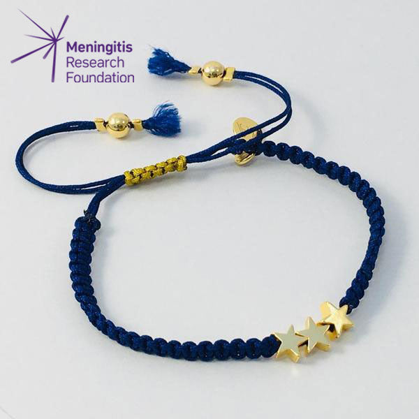 Twinkle Twinkle Star Friendship Bracelet (Blue)
