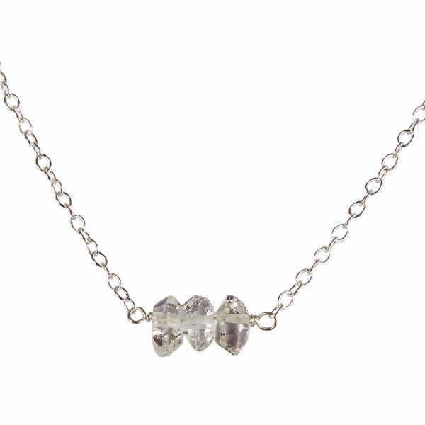 60th Wedding Anniversary | Herkimer 'Diamond' Bead Bar Necklace