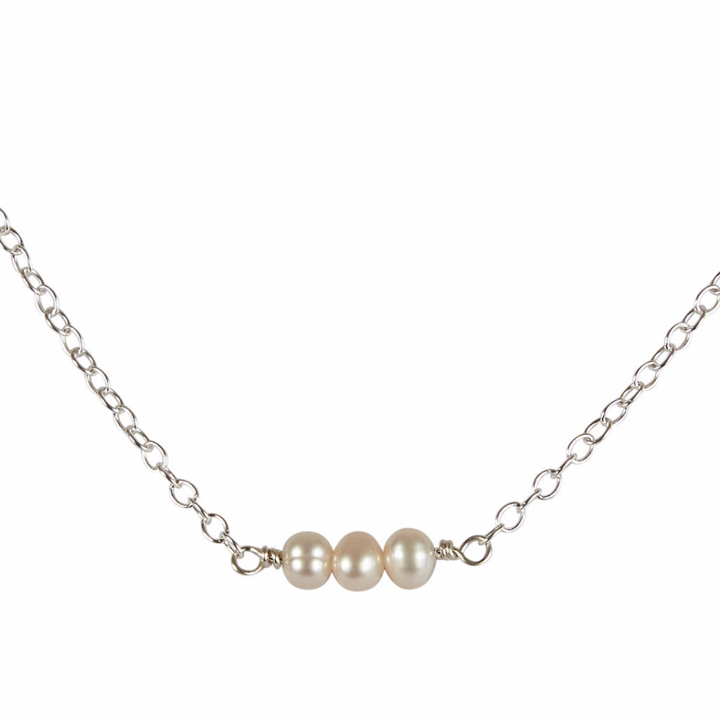 June | Pearl Bead Bar Necklace