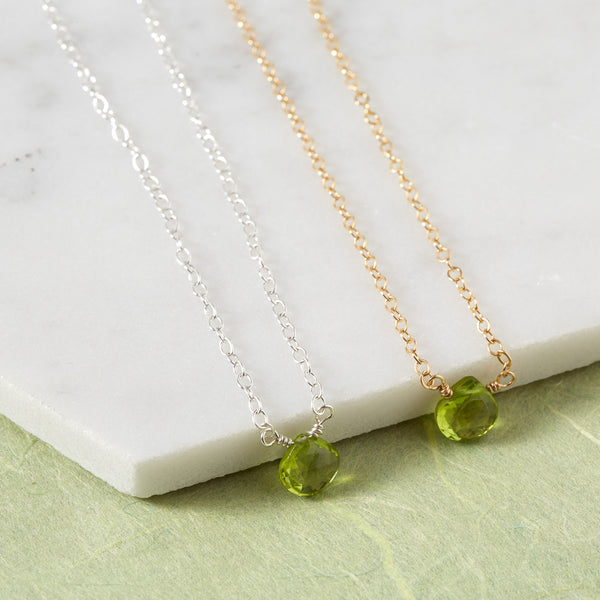 August Birthstone Necklace | Peridot Necklace