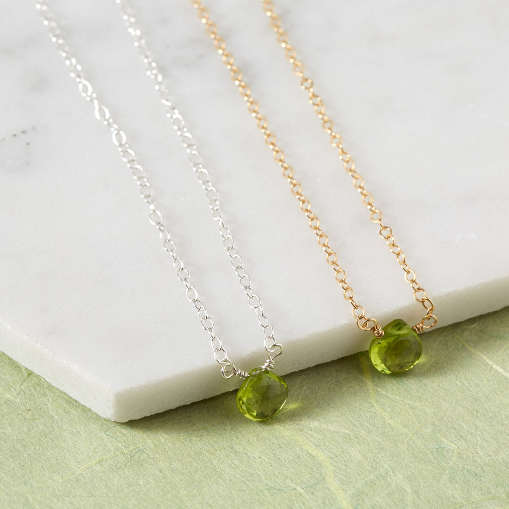 Peridot Briolette Necklace | Wealth, Health & Protection