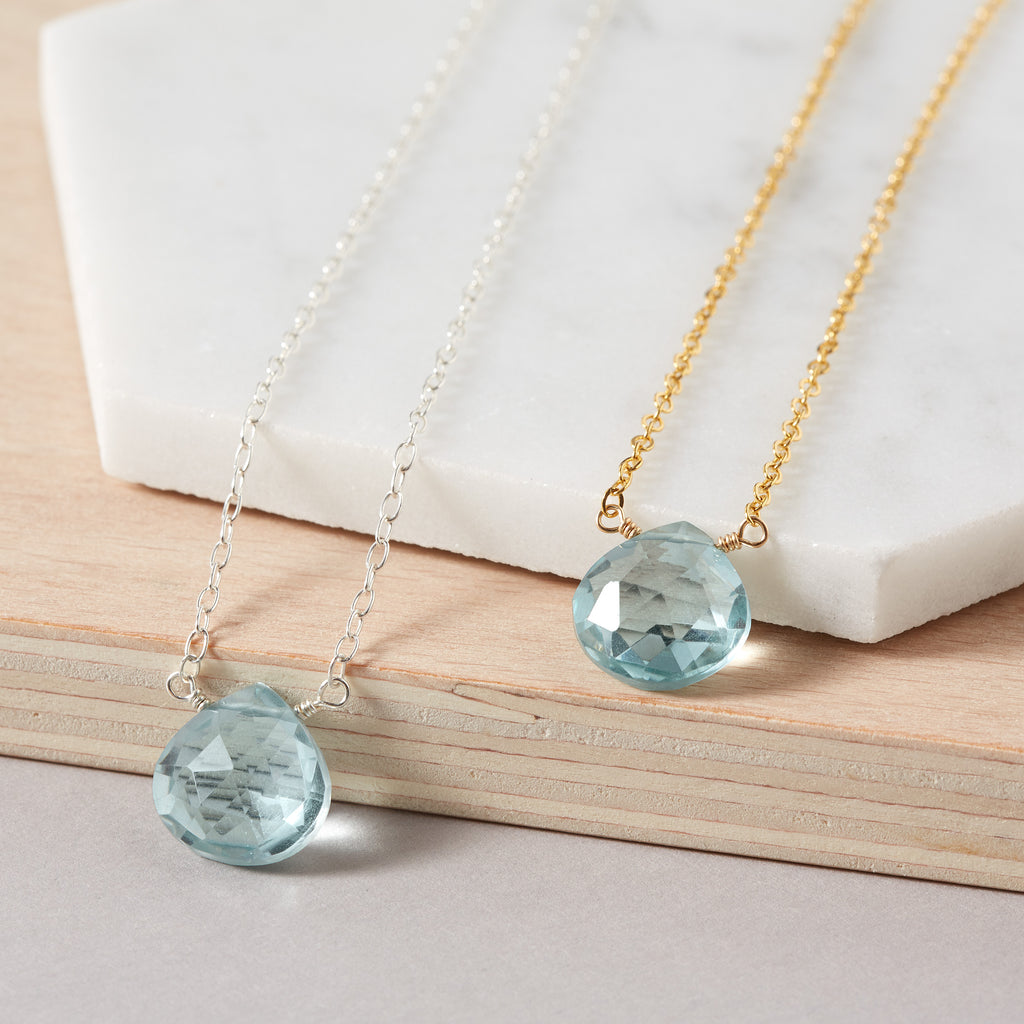 19th Wedding Anniversary | Aquamarine Necklace