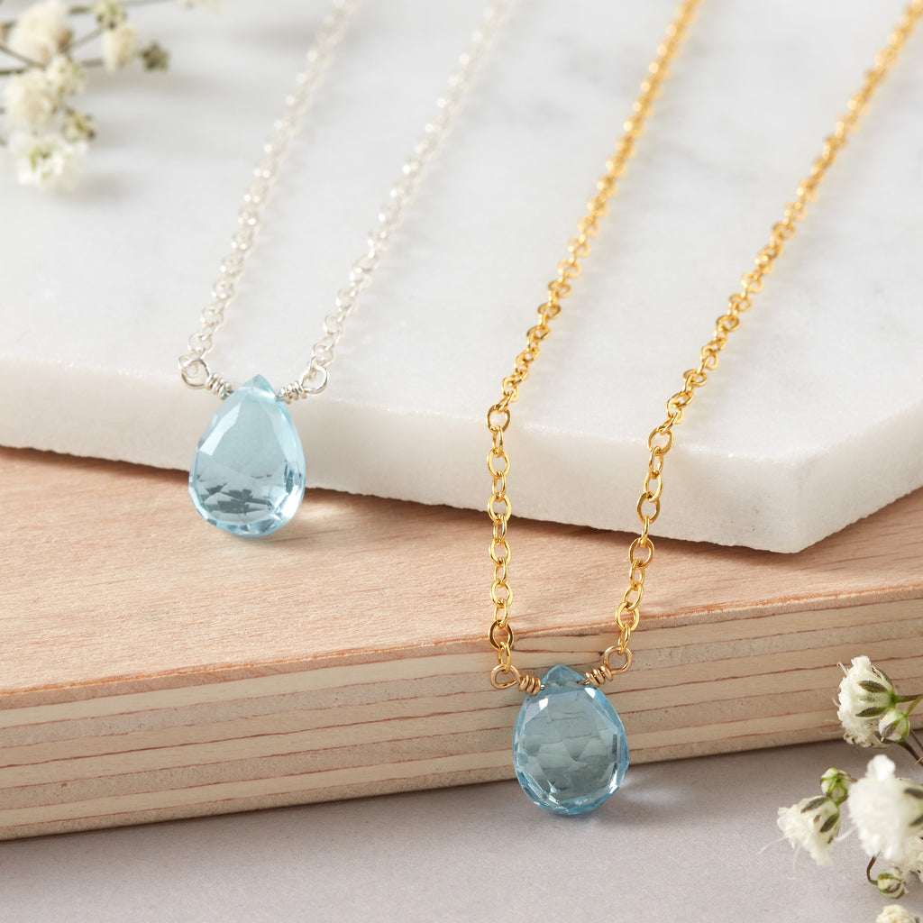 Mystic Blue Topaz Necklace | Good Health, Forgiveness & Joy