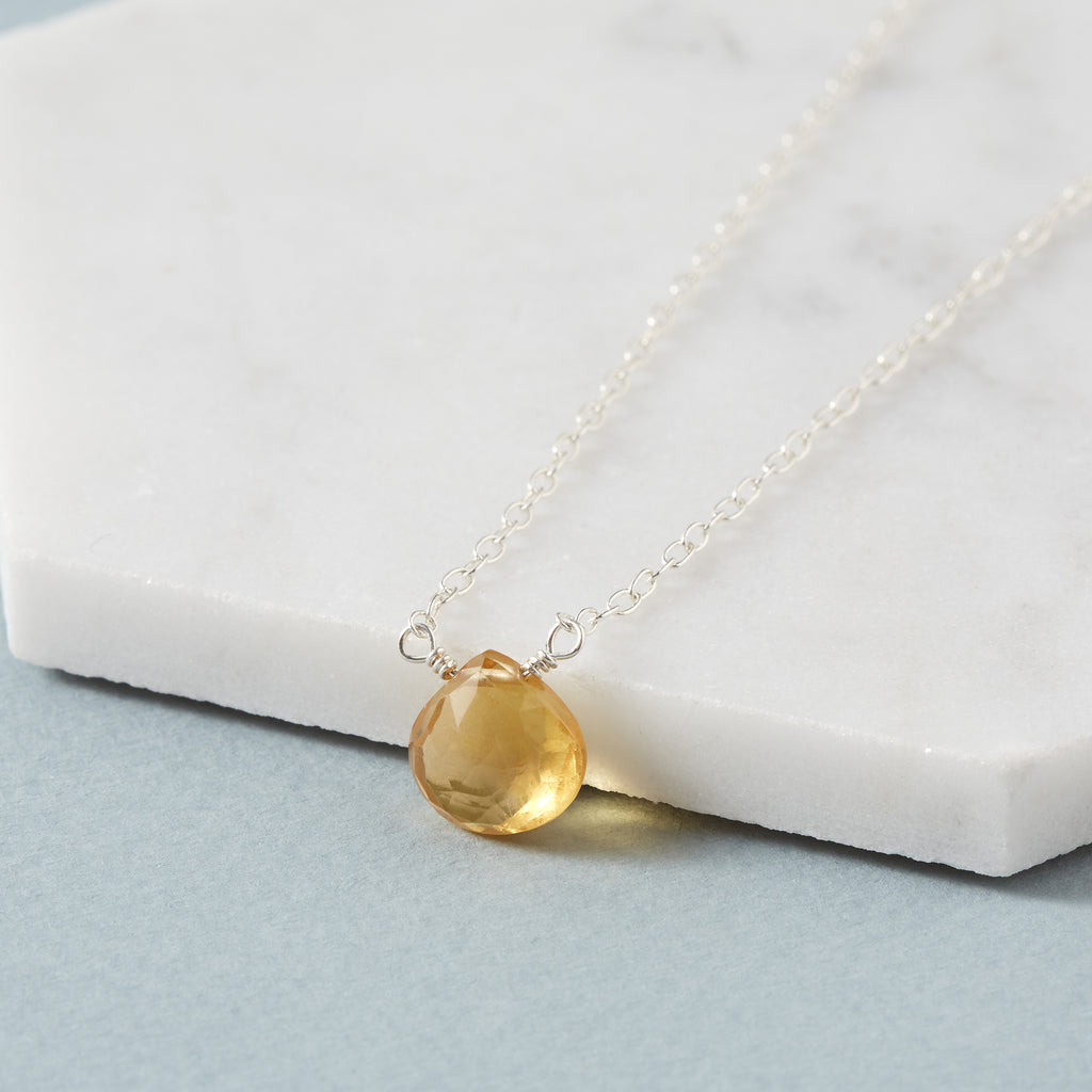 Citrine Necklace | Chakra Cleanser & Health