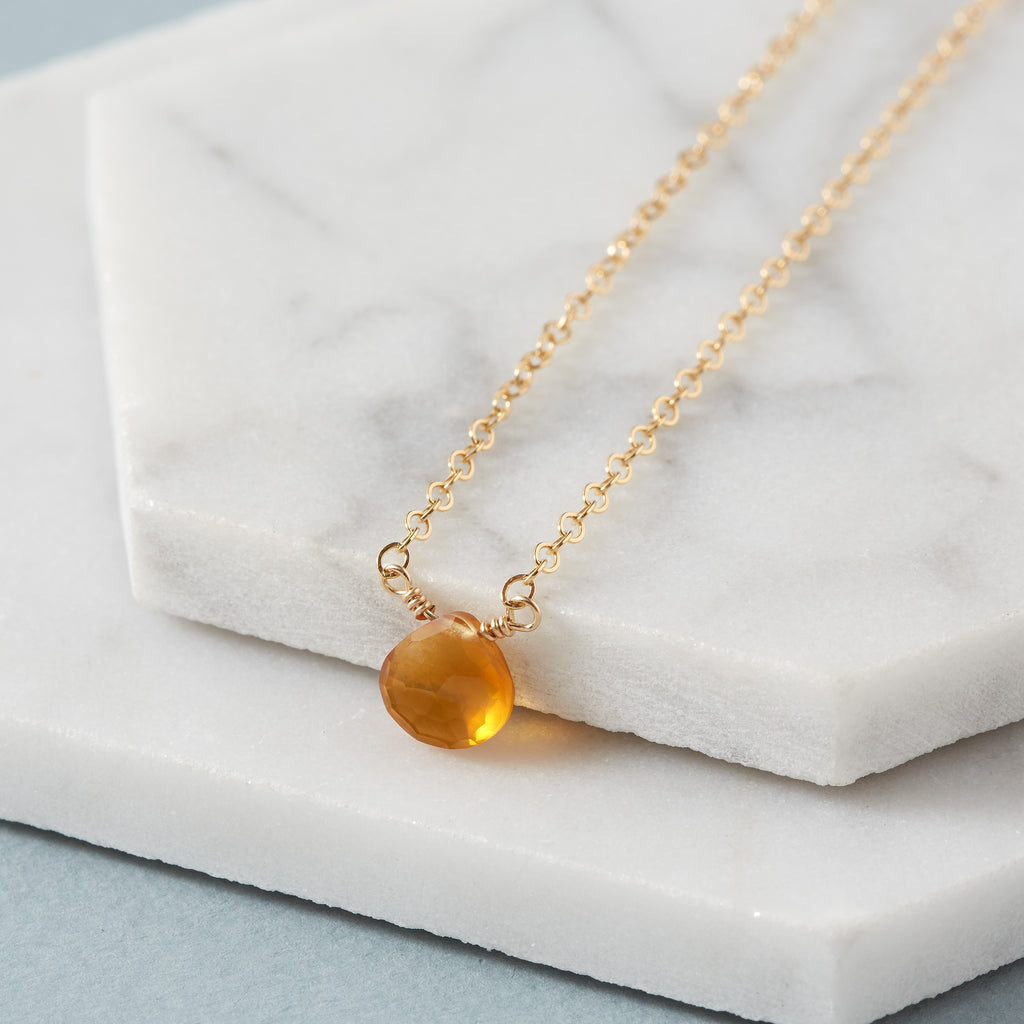 Garnet Briolette Necklace | Friendship & Trust