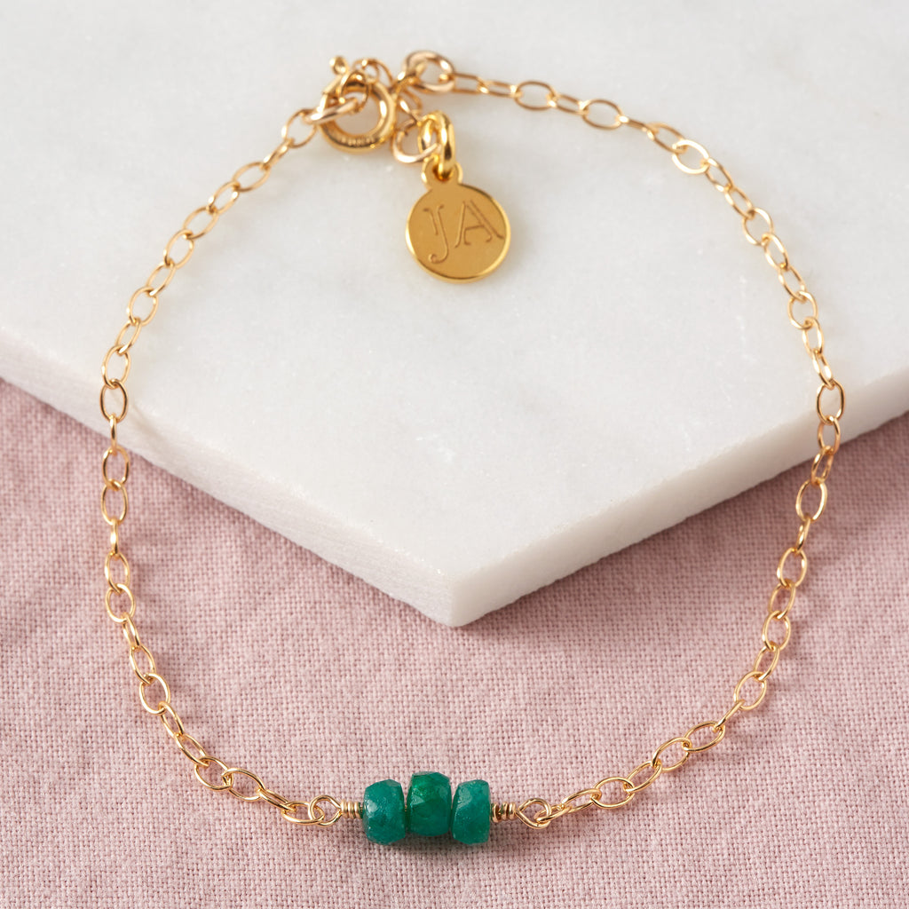 Emerald Bracelet | Love & Patience