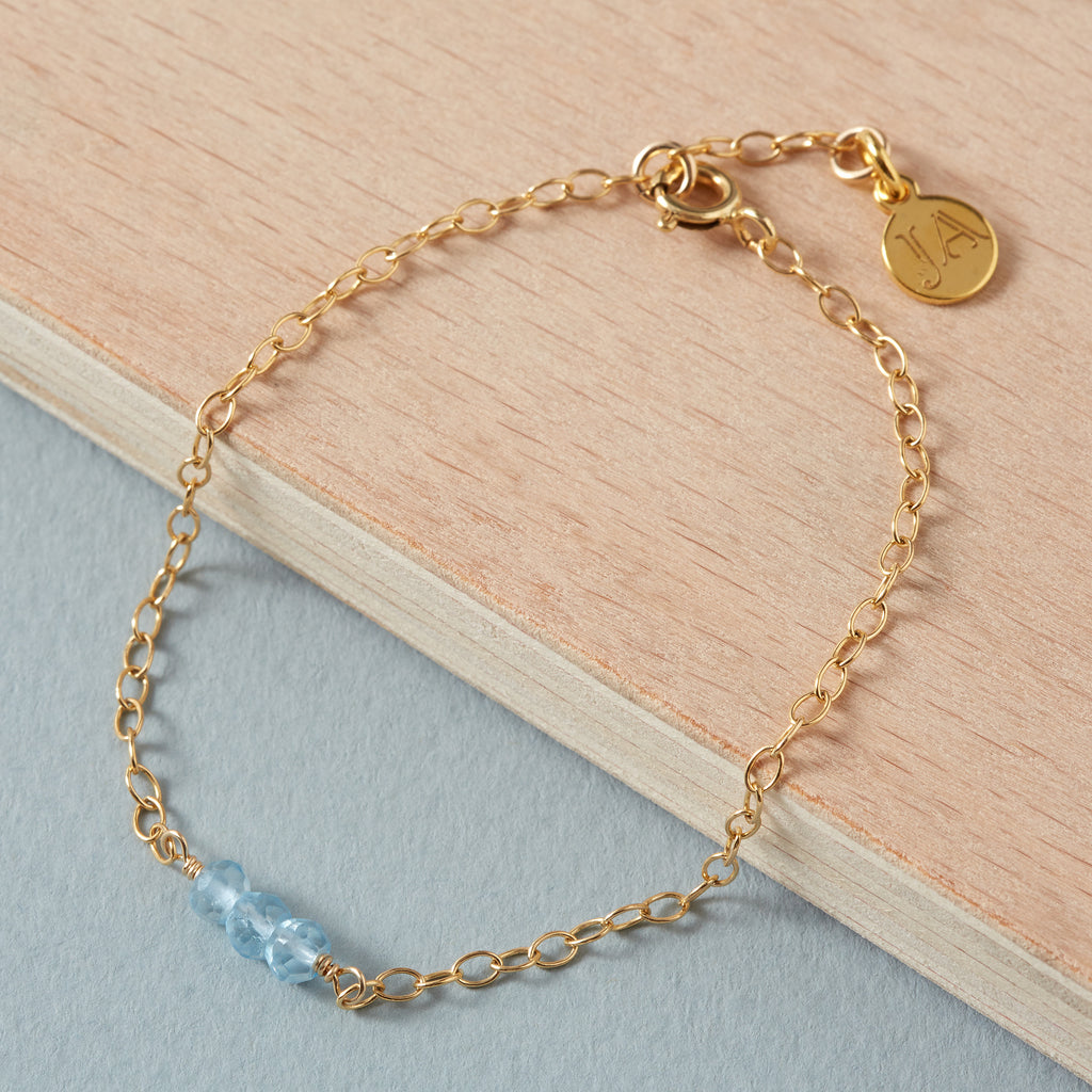 Mystic Blue Topaz Bracelet | Good Health, Forgiveness & Joy