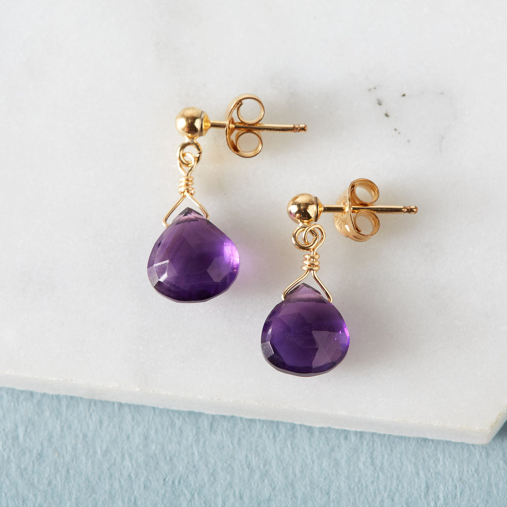 Ultra Violet Amethyst Earrings