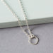 Diamond Cut Friendship Ring Necklace