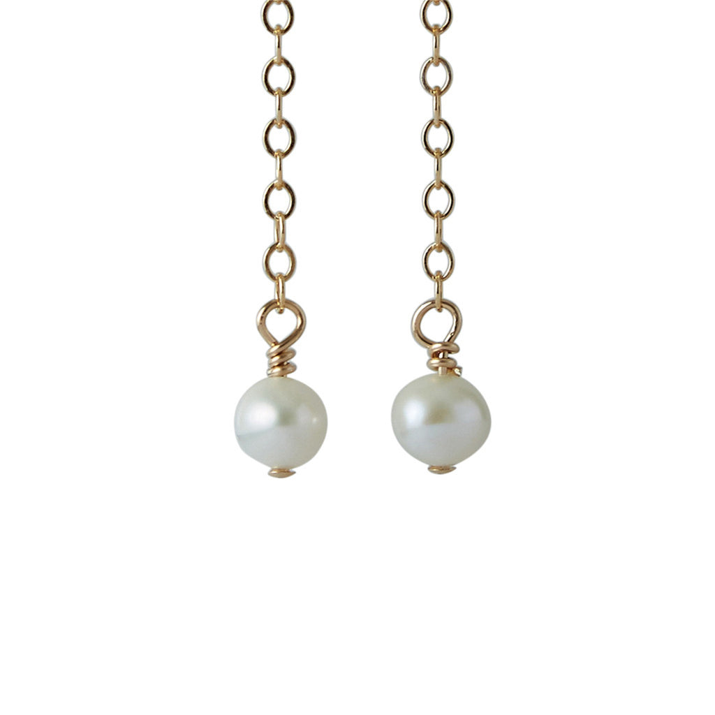 3rd Wedding Anniversary | Pearl Earrings (14ct Gold Filled)