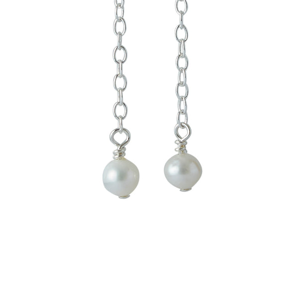 3rd Wedding Anniversary | Pearl Earrings (Sterling Silver)