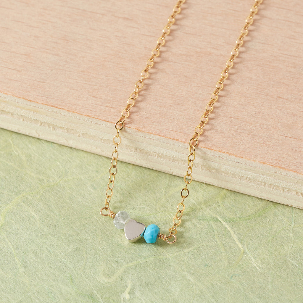 Personalised Birthstone Necklace | 'Tilly Loves' Necklace