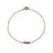 Pink Topaz Bead Bar Bracelet | Good Health, Forgiveness & Joy