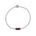 Ruby Bead Bar Bracelet | Health, Wisdom & Wealth