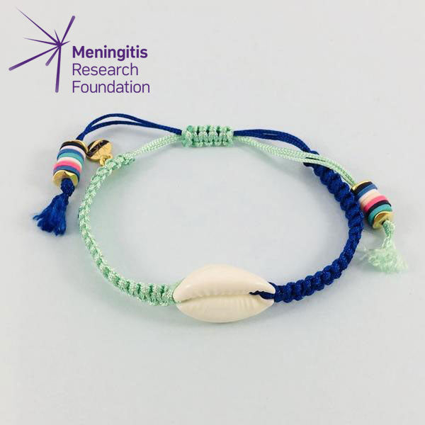Cowrie Shell Friendship Bracelet (Blue/Green)