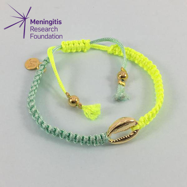 Cowrie Shell Friendship Bracelet (Neon Yellow/Green)