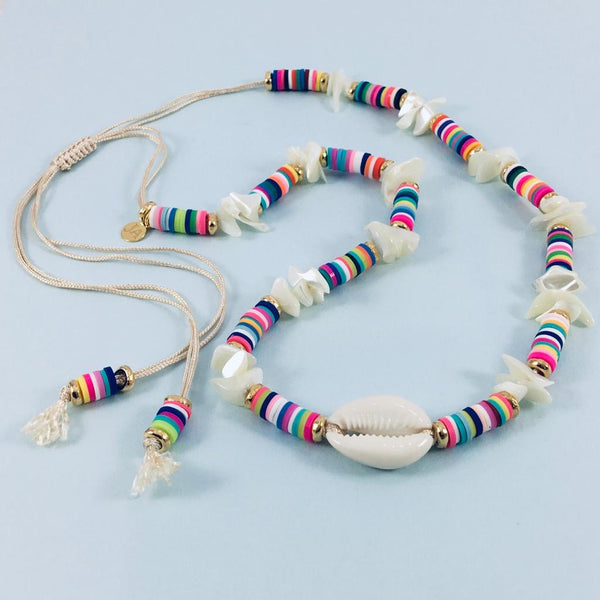 Cowrie Shell Happy Necklace