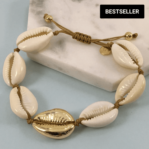 Gold Plated Cowrie Shell Bracelet