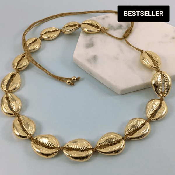 Gold Plated Cowrie Shell Necklace