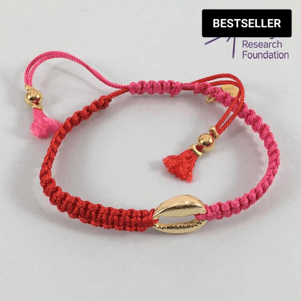 Cowrie Shell Friendship Bracelet (Red/Pink)