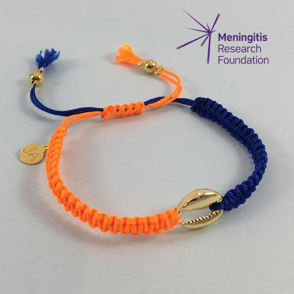 Cowrie Shell Friendship Bracelet (Blue/Orange)