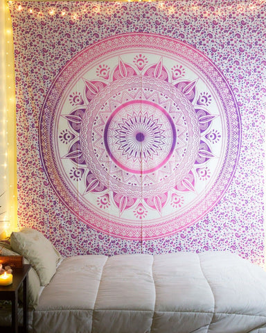 Hippie Wall Hanging Mandala Tapestry With Lights Bohemian Home Decor Good Looking