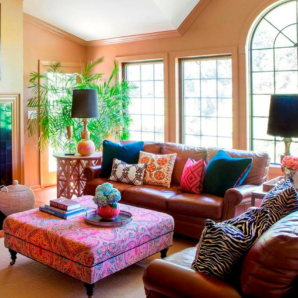 Accentuate The Hippiness Of Your Living Room With Boho Pillows And A  Paisley Coffee Table.
