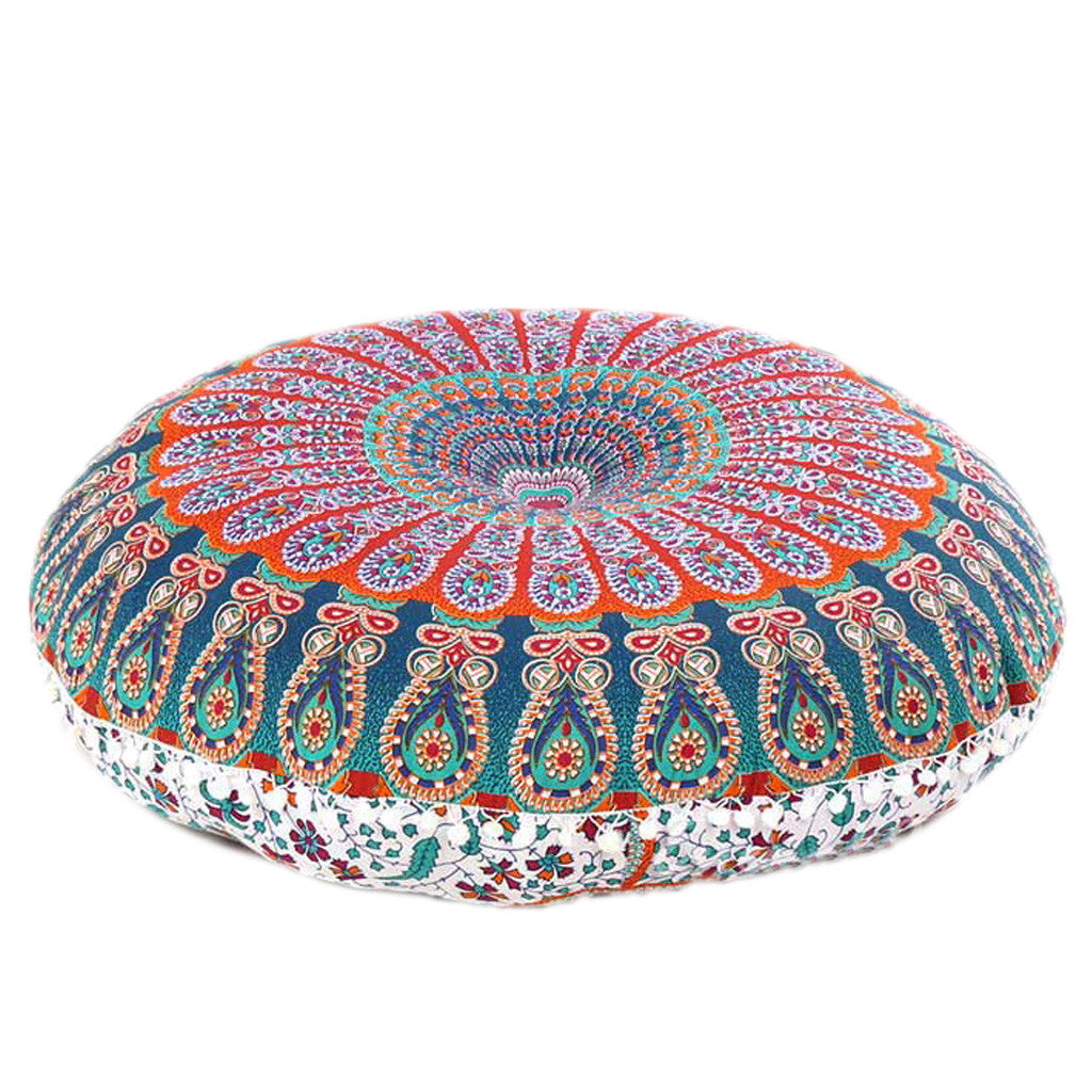 ombre mandala for inches round brownombre pillows meditation floor pillow golden products yoga and