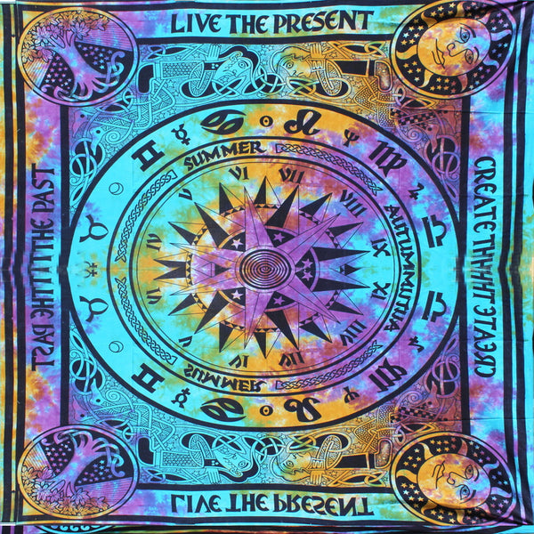 Mandala Psychedelic Captain Compass Tapestry - KraftDirect