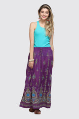 THE CEREMONIAL CRAFTS MAUVE BOHO MAXI SKIRT