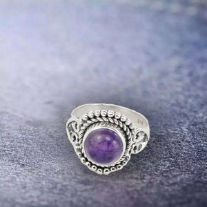 BLOOM AND TWINES AMETHYST SILVER RING