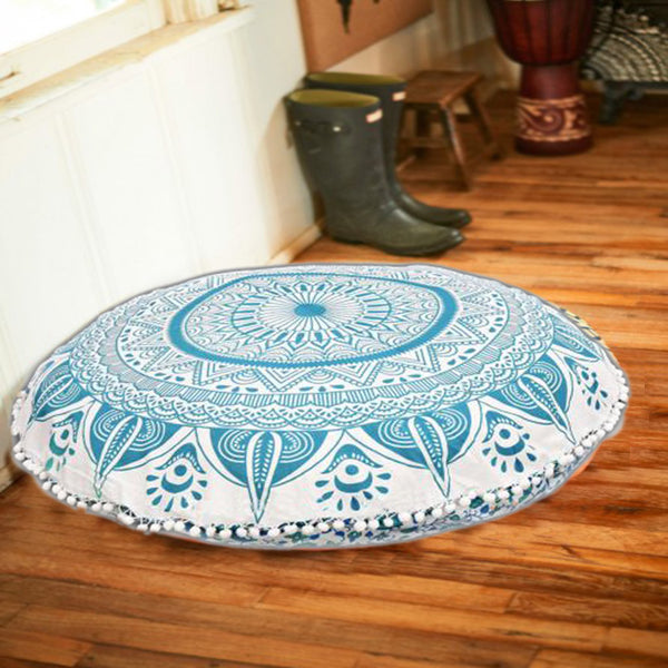 The Oceanic Chakra Chakra Round Mandala Floor Pillow
